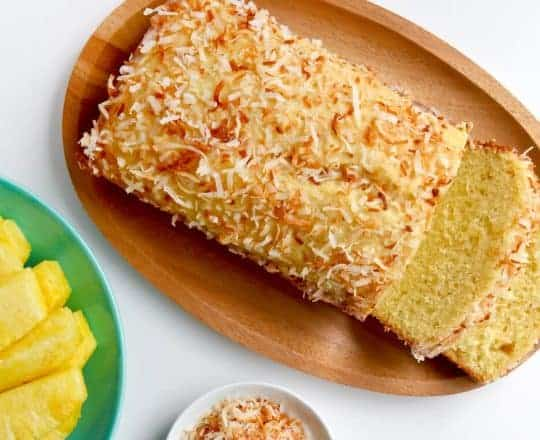 Glazed Pineapple Coconut Bread