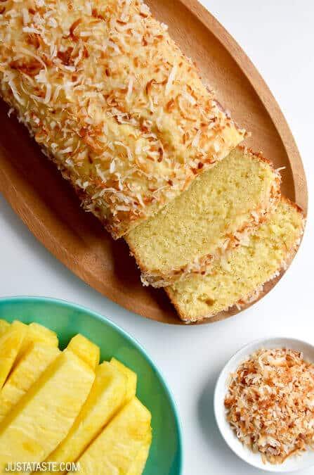 Just a Taste | Glazed Pineapple Coconut Bread