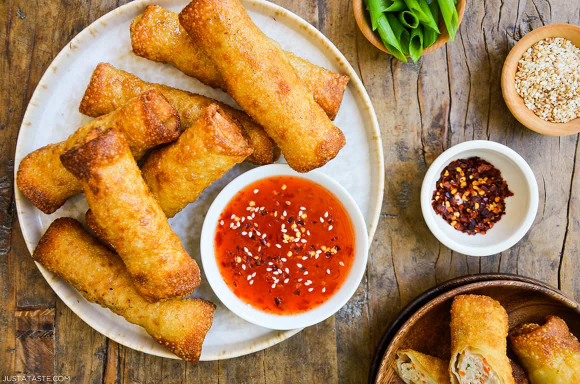 FRIDAY: Easy Sesame Chicken Egg Rolls