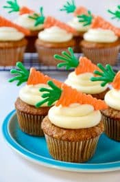 Carrot Cupcakes with Cream Cheese Frosting Recipe