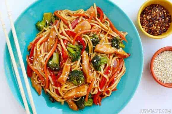 Teriyaki Chicken Stir-Fry with Noodles Recipe