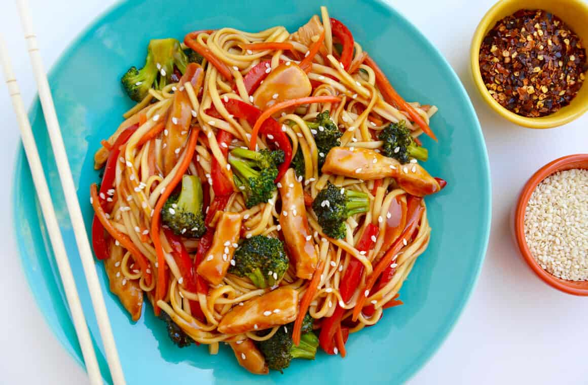 Teriyaki Chicken Stir Fry With Noodles Just A Taste