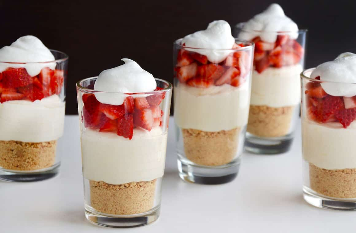Just A Taste Easy No Bake Cheesecake Parfaits