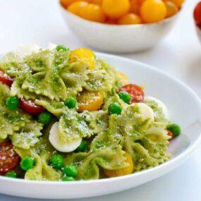 Pea Pesto Pasta Salad Recipe