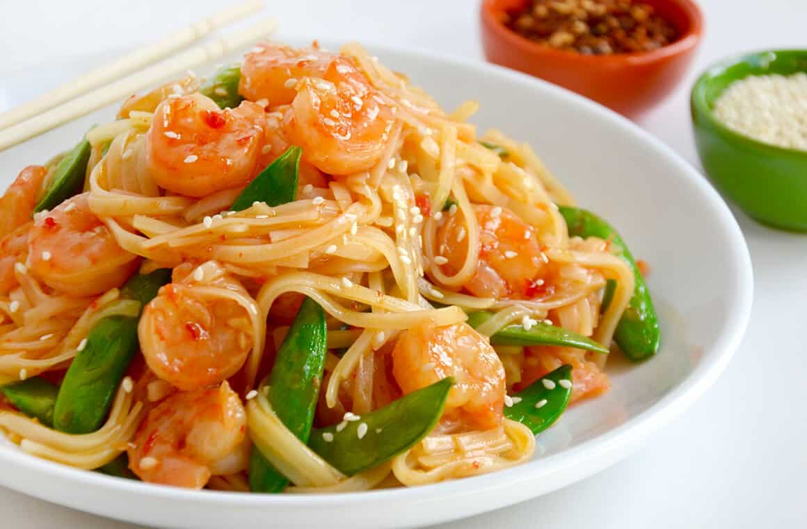 TUESDAY: 20-Minute Sweet and Sour Shrimp Stir-Fry