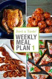 Just a Taste Weekly Meal Plan 1 and Shopping List