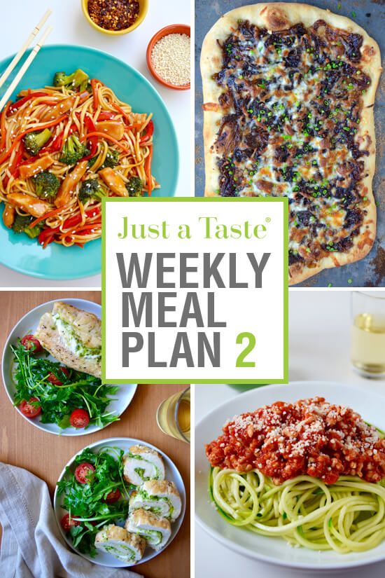 Weekly Meal Plan 2 and Shopping List