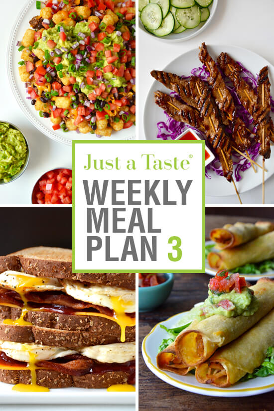 Weekly Meal Plan 3 and Shopping List