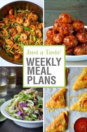 Just a Taste Weekly Meal Plans