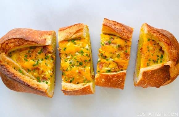 Cheesy Baked Egg Boats Recipe
