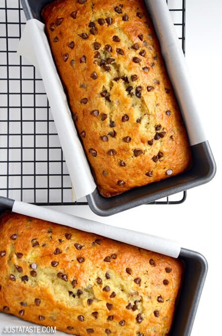 Just A Taste Chocolate Chip Cake Mix Banana Bread