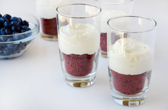 Red, White and Blue No-Bake Cheesecake Parfaits Photo