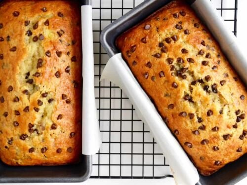 Chocolate Chip Cake Mix Banana Bread Just a Taste