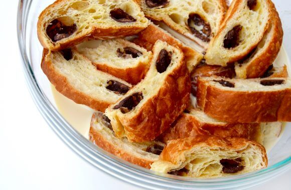 Just a Taste | Chocolate Croissant Bread Pudding