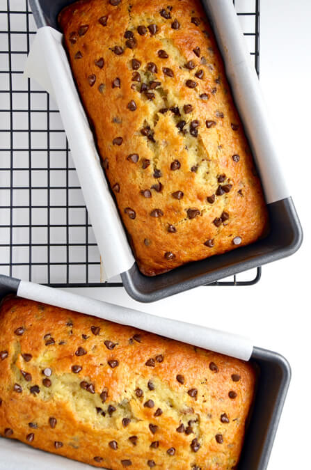 Chocolate Chip Cake Mix Banana Bread