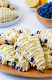 Glazed Lemon Blueberry Scones Photo