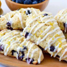 Glazed Lemon Blueberry Scones Recipe