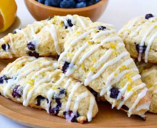 Glazed Lemon Blueberry Scones Recipe