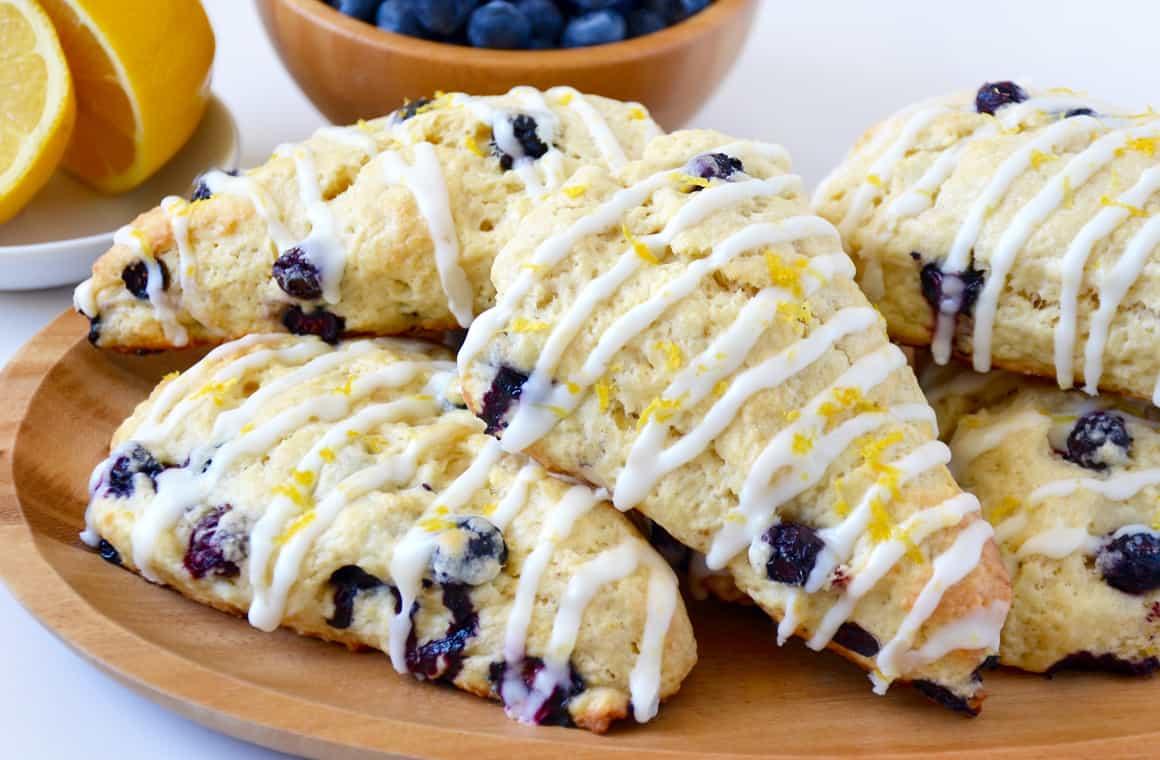 Glazed Lemon Blueberry Scones Just A Taste