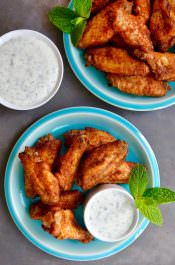 Crispy Baked Moroccan Chicken Wings Image