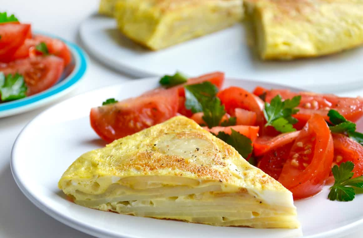 WEDNESDAY: Spanish Tortilla with Tomato Salad