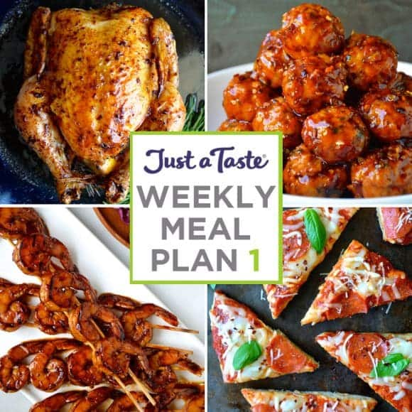 weekly meal plan 1 and shopping list