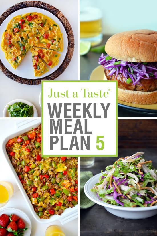 Weekly Meal Plan 5 and Shopping List