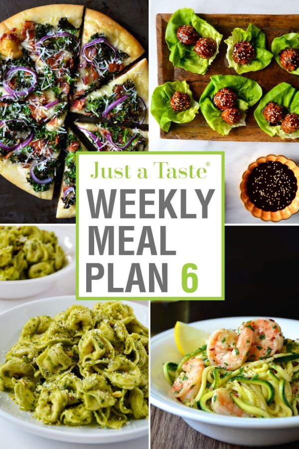 Weekly Meal Plan 6 and Shopping List