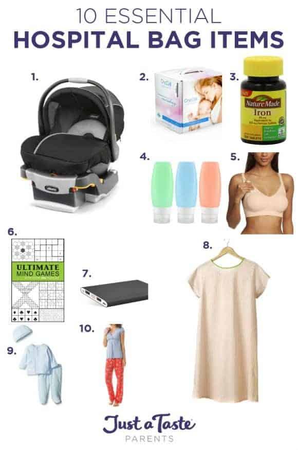 10 Essential Hospital Bag Items