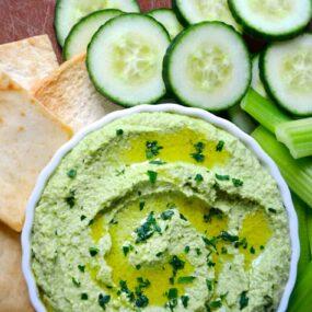 Edamame and Pea Hummus Photo