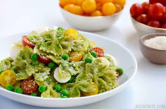 Pea Pesto Pasta Salad