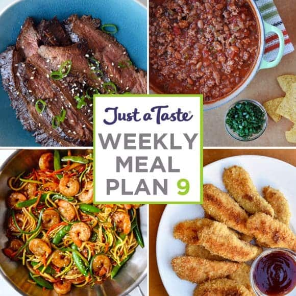Weekly Meal Plan 9 and Shopping List