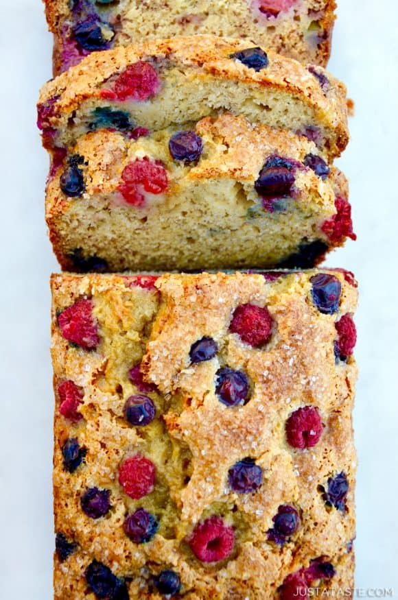 Mixed Berry Banana Bread Recipe