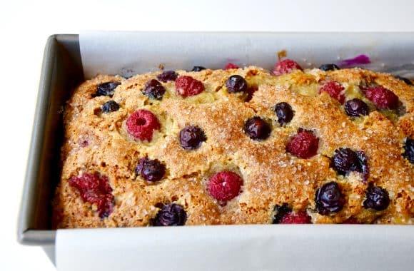 Mixed Berry Banana Bread Recipe