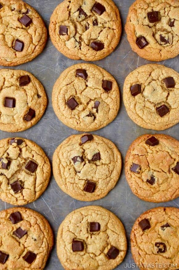 Just a Taste | Peanut Butter Chocolate Chunk Cookies
