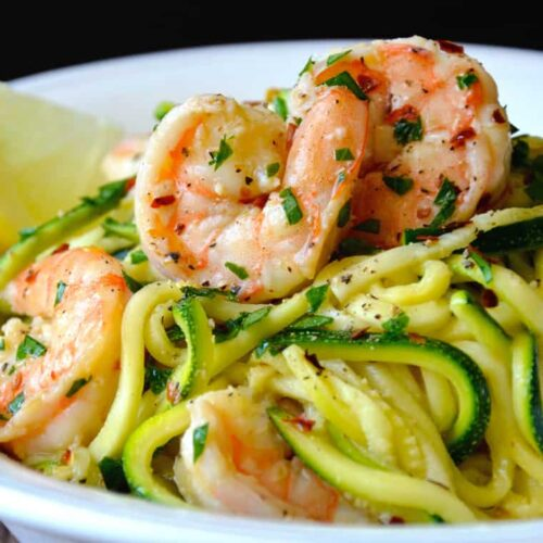 Skinny shrimp scampi with zucchini noodles recipe forumfinder Image collections