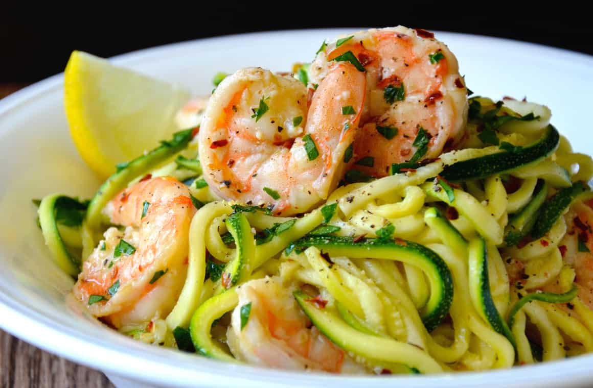 TUESDAY: Skinny Shrimp Scampi with Zucchini Noodles