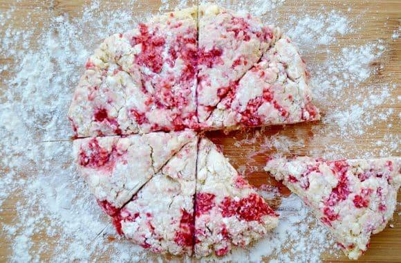 White Chocolate Chip Raspberry Scones Photo