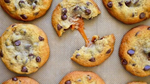 Caramel-Stuffed Chocolate Chip Cookies | Just a Taste