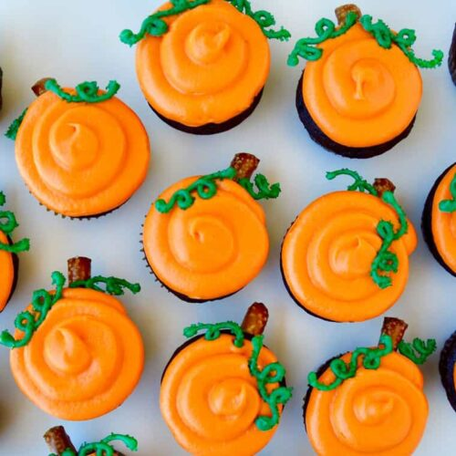 chocolate halloween cupcakes with cream cheese frosting just a taste
