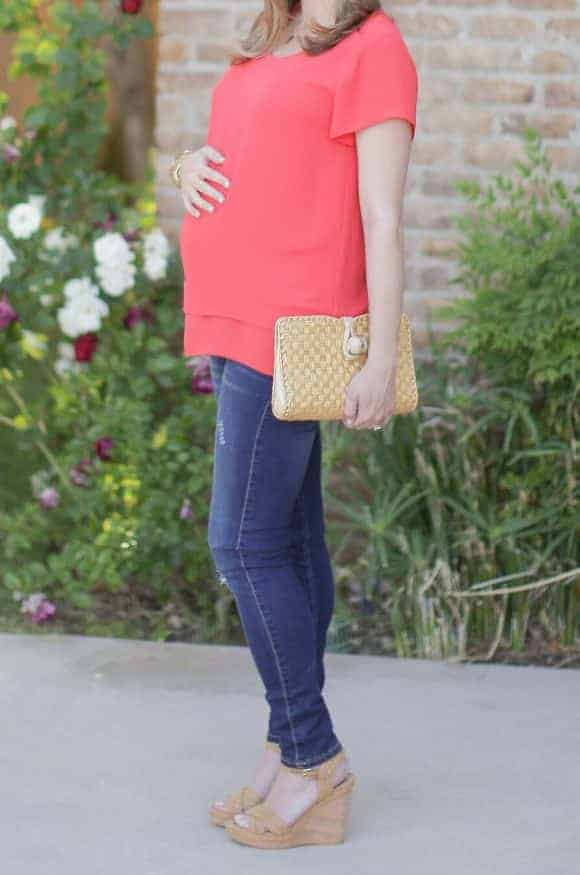 Pink Blush Maternity Jeans