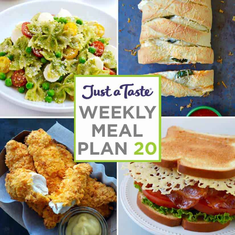 Weekly Meal Plan 20 and Shopping List
