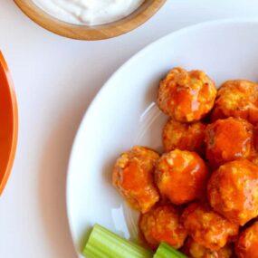 Baked Buffalo Chicken Meatballs Recipe