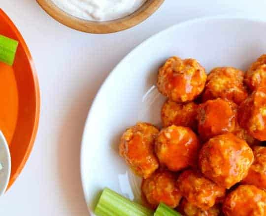 Baked Buffalo Chicken Meatballs Recipe