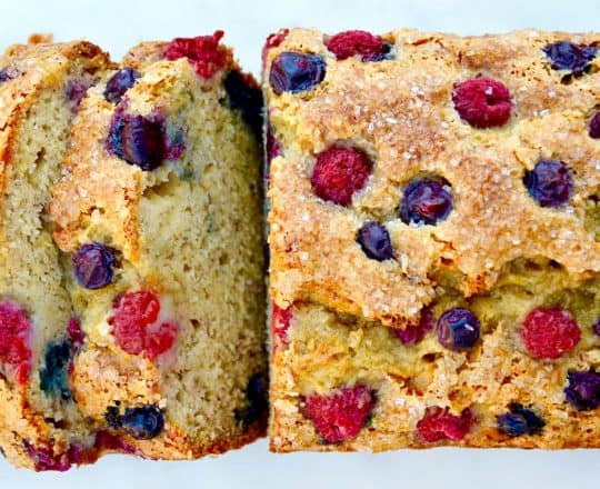 Mixed Berry Banana Bread