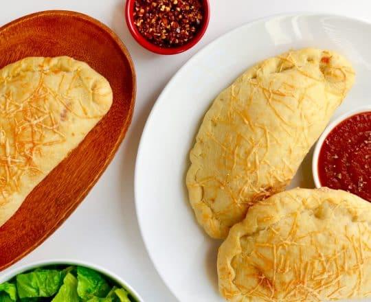 Cheesy Garlic Chicken Calzones Recipe
