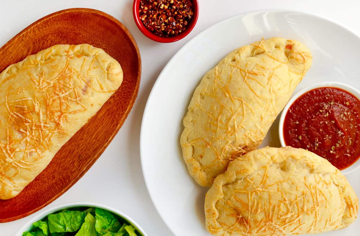WEDNESDAY: Cheesy Garlic Chicken Calzones