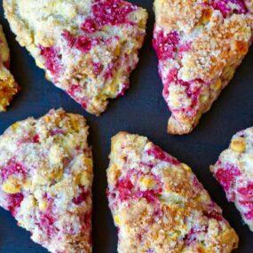 White Chocolate Chip Raspberry Scones Recipe