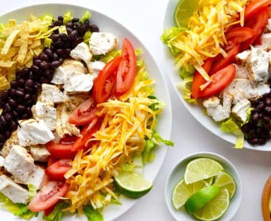 Fish Taco Salad with Avocado Dressing