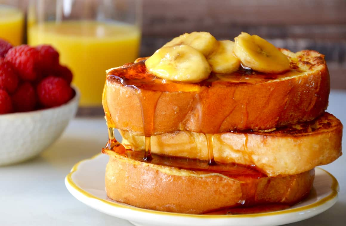 Just A Taste Easy French Toast With Caramelized Bananas